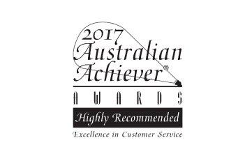 Award Seal; Australian Achiever Awards 2017 Excellence in Customer Service