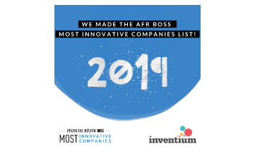 Award Seal; Financial Review Boss 2019 5th Most innovative tech company