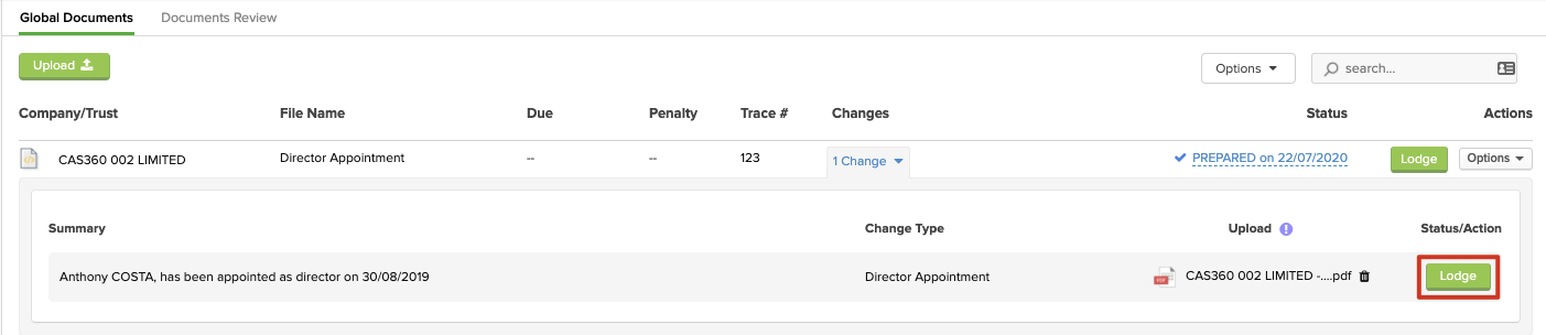 CAS 360 Company Changes. Direct Filing with the Companies Office.